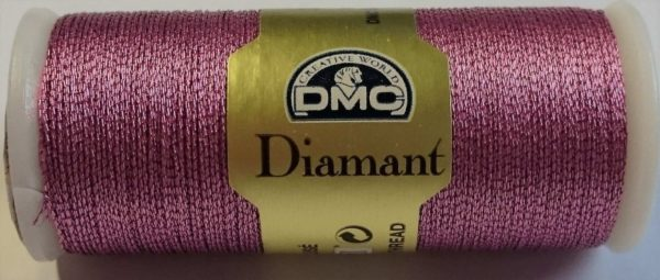 DMC DIAMANT THREAD   D316   Pink  (ophir)