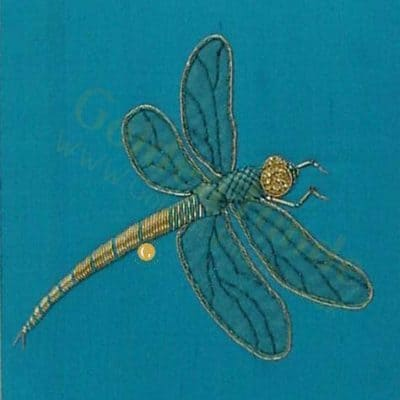 Dragonfly Goldwork Kit ,  Intermediate Goldwork Embroidery