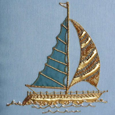 Yacht Goldwork Embroidery Kit