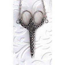 Celtic knot Chatelaine, Pewter (Made in England)
