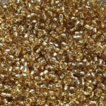 gold glass beads