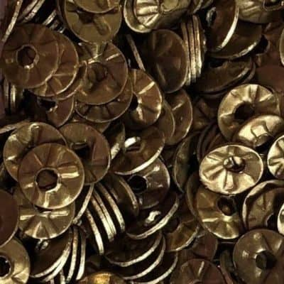 brass flower sequin 4mm