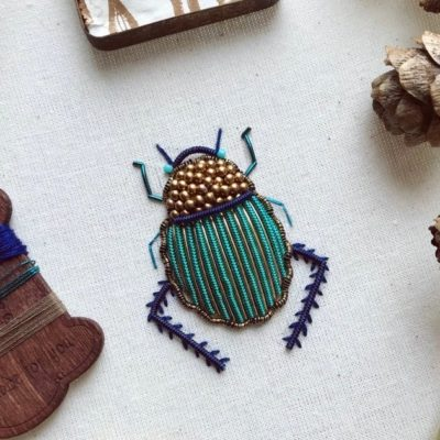 Scarab beetle from the olde sewing room